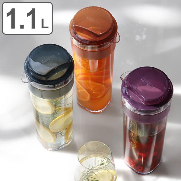 送料0円 冷水筒 ピッチャー スリムジャグ 1.1L 麦茶ポット オーバーのアイテム取扱☆ 耐熱 縦置き 日本製 洗いやすい お茶ポット 横置き