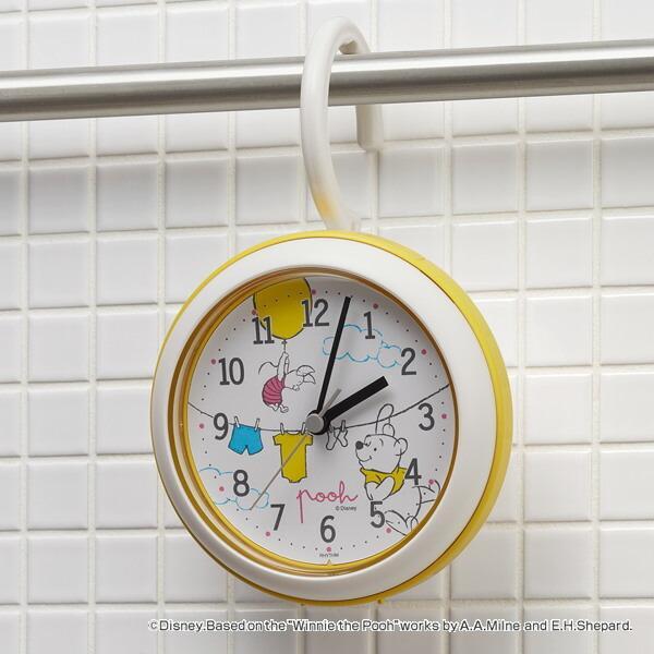 時計 くまのプーさん 防滴 売れ筋 防塵 バスクロック 半身浴 置き時計 クオーツ時計 掛け時計 置時計 新入荷 流行 プーさん POOH 掛時計
