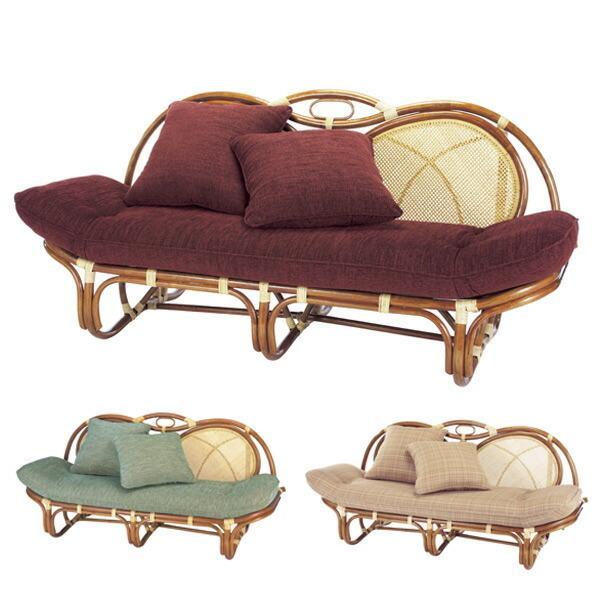 SALE 籐 カウチソファ ラタン製 アンバーブラウン 幅158cm 籐家具 アジアン家具 ソファー 情熱セール ソファ