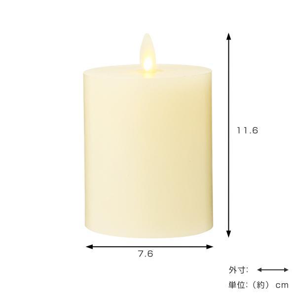 キャンドル LED LUMINARA ルミナラフラットトップピラー 3×4インチ ( キャンドルライト ルミナラ LEDキャンドル )|livingut|03