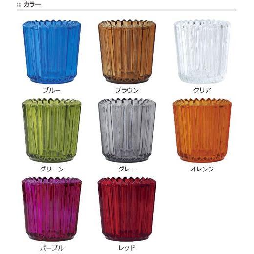 キャンドルホルダー キャンドルグラス ガラス製 ソレイユ ( キャンドルスタンド ろうそく立て アロマ 香り キャンドル )|livingut|02