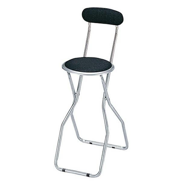 カウンターチェア 背もたれ付き 折りたたみ式 ブラック 折り畳み 椅子 新作製品 超人気 世界最高品質人気 チェアー