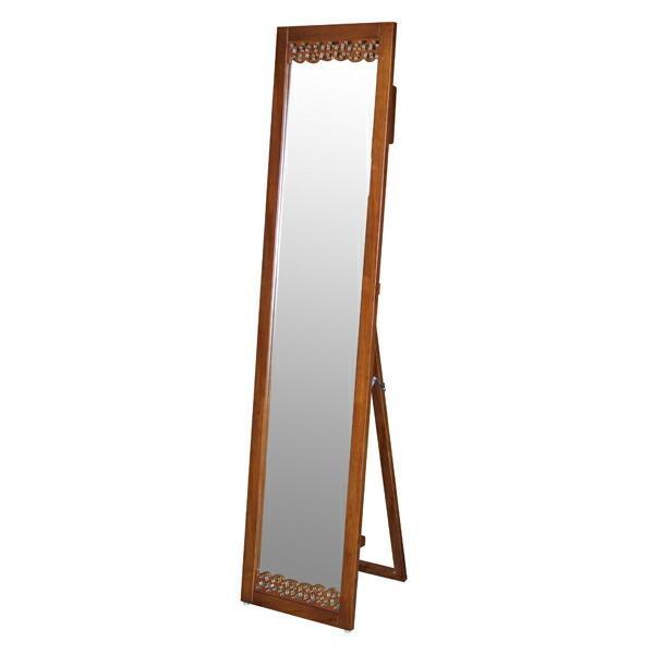 スタンドミラー 姿見 アジアン家具 天然木 オーキッド 高さ159cm ( ミラー 鏡 アジアン アジアンテイスト 木製フレーム 全身鏡 全身鏡 全身鏡 ) 443