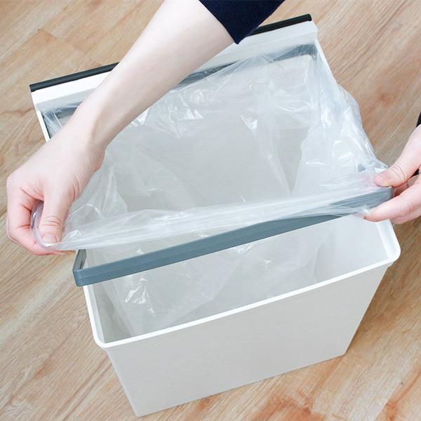 ゴミ箱 分別 3段 ワイド 資源ゴミ キャスター付き 引き出し 袋止め 3分別 約43L ごみ箱 ダストボックス おしゃれ ( スリム キッチン 台所 三段 )|livingut|14