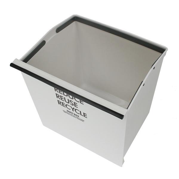ゴミ箱 分別 3段 ワイド 資源ゴミ キャスター付き 引き出し 袋止め 3分別 約43L ごみ箱 ダストボックス おしゃれ ( スリム キッチン 台所 三段 )|livingut|16