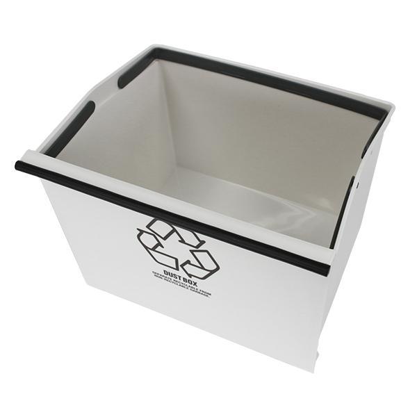 ゴミ箱 分別 3段 ワイド 資源ゴミ キャスター付き 引き出し 袋止め 3分別 約43L ごみ箱 ダストボックス おしゃれ ( スリム キッチン 台所 三段 )|livingut|17