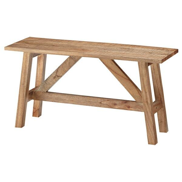 ベンチ Saran 天然木 幅90cm ( 長椅子 椅子 イス いす チェア 完成品 )
