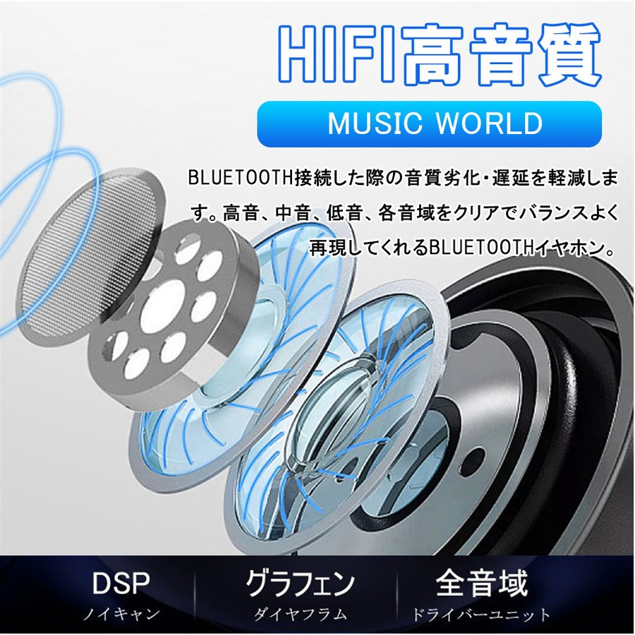 ワイヤレスイヤホン 高レベル運動調音 低い雑音技術 イヤホン ミニ 片耳 運動 差し込み式 立体音 ワイヤレス 高音質通話 Bluetooth5.0 重低音効|lkestore|04