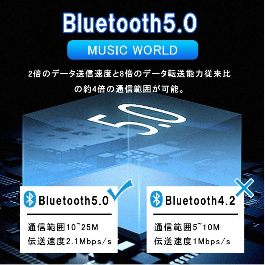 ワイヤレスイヤホン 高レベル運動調音 低い雑音技術 イヤホン ミニ 片耳 運動 差し込み式 立体音 ワイヤレス 高音質通話 Bluetooth5.0 重低音効|lkestore|06