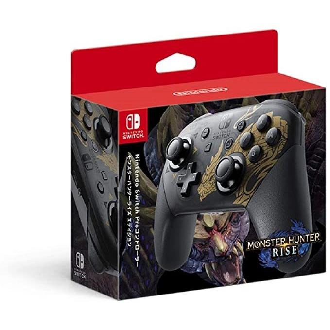 即日発送 Nintendo Switch Proコントローラー モンスターハンター ライズエディション|lns