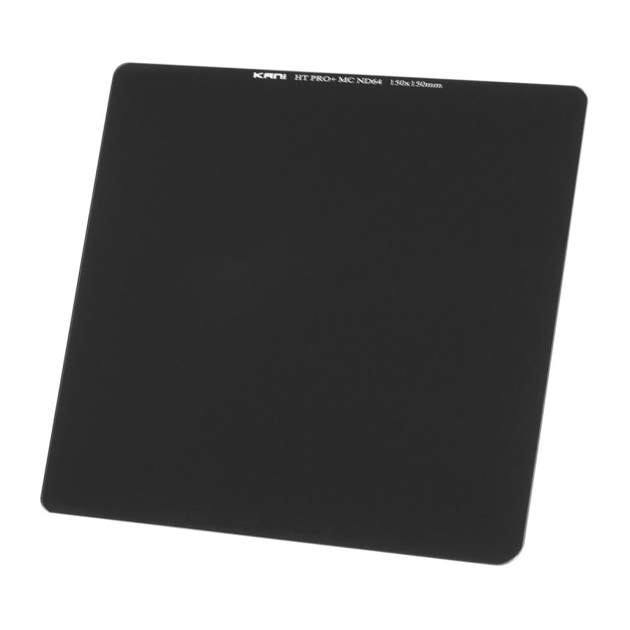 KANI 角型フィルター ND64 150x150mm 減光フィルター(減光効果 6絞り分) / レンズフィルター 角形 NDフィルター|locadesign