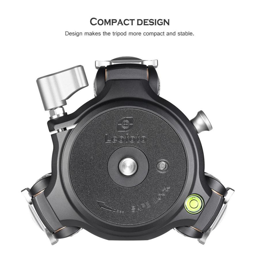 Leofoto (レオフォト) LM-364CL 75mmハーフボールに対応したシステム三脚。高品質なボディとカーボンパイプ採用。|locadesign|03