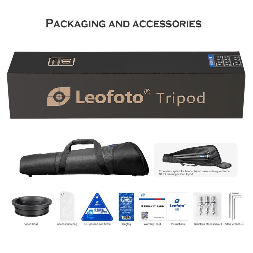Leofoto (レオフォト) LM-364CL 75mmハーフボールに対応したシステム三脚。高品質なボディとカーボンパイプ採用。|locadesign|05