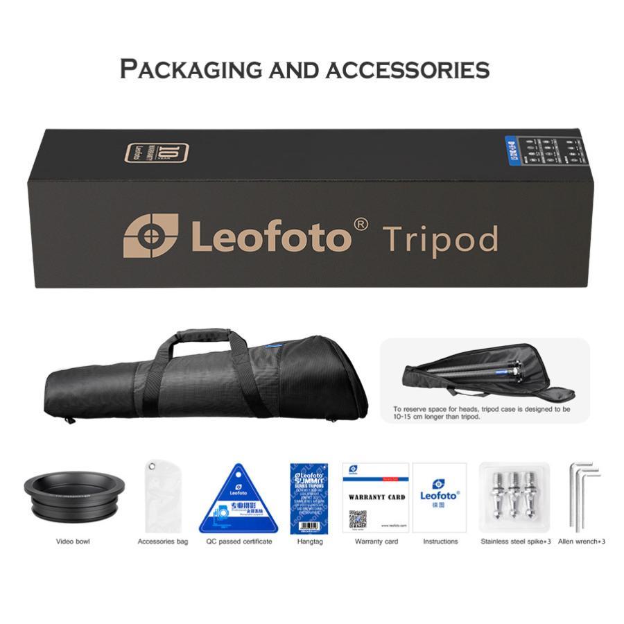 Leofoto (レオフォト) LM-404C 100mmハーフボールに対応したハイエンドシステム三脚 高品質なボディとカーボンパイプ採用|locadesign|05