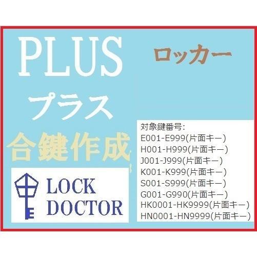 PLUS プラス ロッカー 定番 合鍵 スペアキー 実物 E印 H印 S印 J印 HK印 K印 HN印