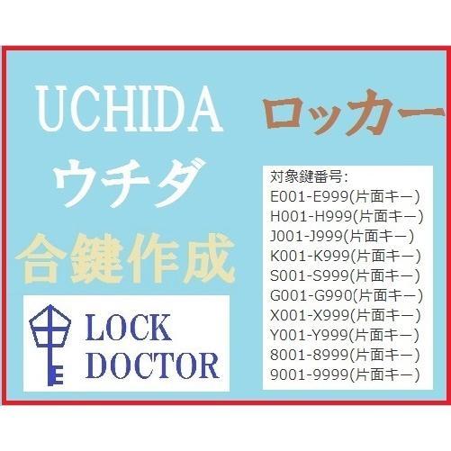 UCHIDA ウチダ ロッカー 合鍵 スペアキー E印 有名な H印 Y印 X印 数字4桁 S印 K印 G印 J印 人気上昇中