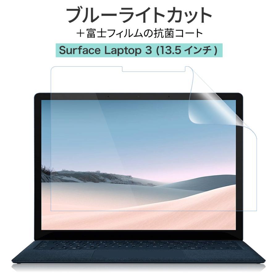 Surface laptop3 13.5インチ ブルーライトカット 特価 抗菌 保護フィルム 指紋防止 スムース 肌触り ラップトップ サーフェス いつでも送料無料 ハーフアンチグレア