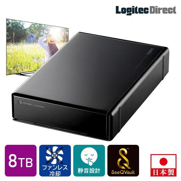 ロジテック 送料無料でお届けします SeeQVault 外付けHDD ハードディスク 8TB テレビ録画 直営限定アウトレット LHD-ENB080U3QW 8st 3.5インチ シーキューボルト テレビレコーダー