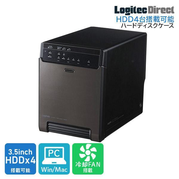 HDDケース 4台搭載可能 3.5インチ RAID機能なし USB3.1 Gen1 LHR-4BNHEU3 8sc オンラインショップ ロジテック USB3.0 大人気! eSATA