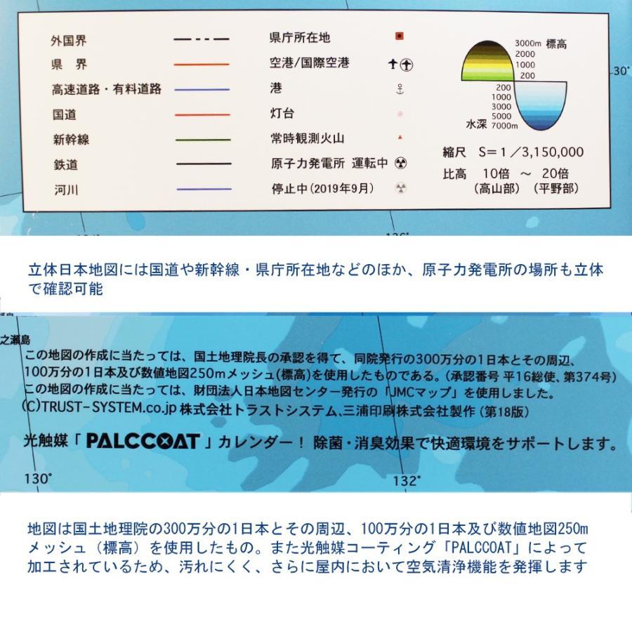 【完売御礼】立体日本地図カレンダー2020年度版 / 日本列島の凹凸を目で見て触ってわかる 地図好きへの逸品 工作、親勉、中学受験|lohasshop-y|10