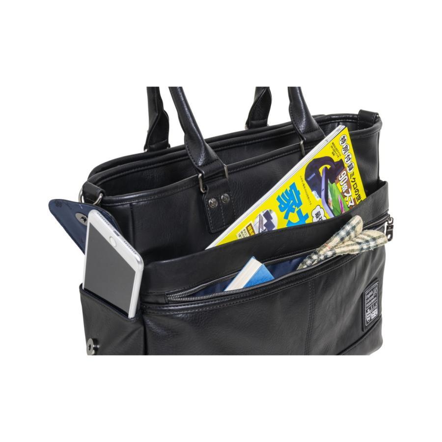 トートバッグ メンズ  トート ビジネストート 鞄 おしゃれ 人気 通勤 通学 自立 ELA-13053|lojel-japan|08