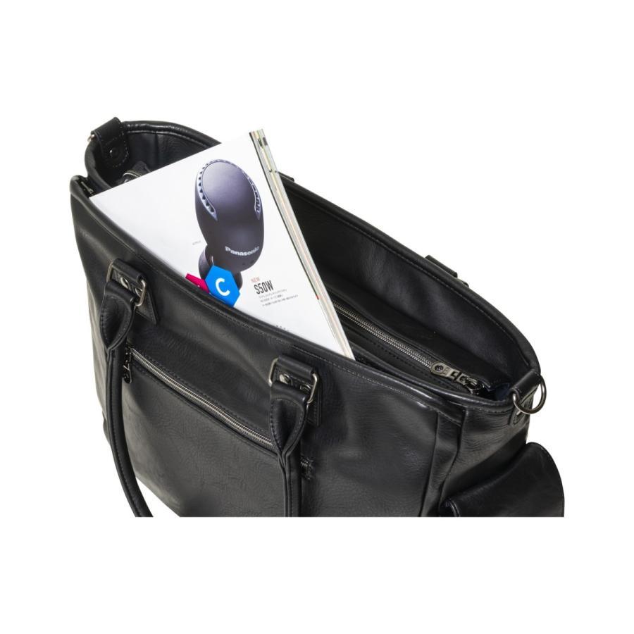 トートバッグ メンズ  トート ビジネストート 鞄 おしゃれ 人気 通勤 通学 自立 ELA-13053|lojel-japan|09