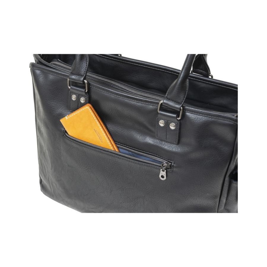トートバッグ メンズ  トート ビジネストート 鞄 おしゃれ 人気 通勤 通学 自立 ELA-13053|lojel-japan|10