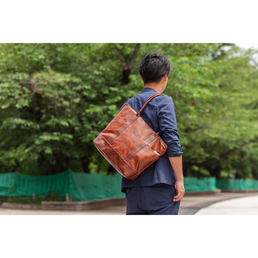 トートバッグ メンズ  トート 合皮 レザー 鞄 おしゃれ 撥水 人気 通勤 通学 ELA-13072 lojel-japan 09