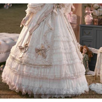 ロリータ ペチコート インナースカート 大きいサイズ サイズ豊富 通年 エレガント 甘ロリ ロング マキシ ふんわり お姫様 姫ロリ かわいい ボリューム loliloli 04