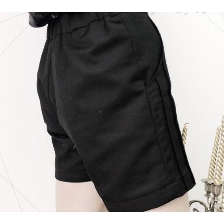 ショートパンツ 通年 ミニ丈 ショートタイプ ショーパン 無地 ゴシック シンプル 着回し 美脚 スタイルアップ 美シルエット かわいい キュート セクシー|loliloli|06