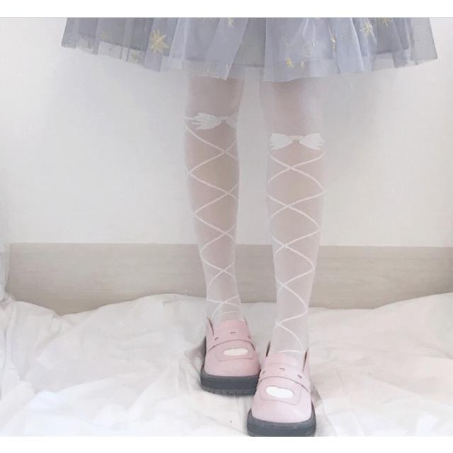 タイツ ストッキング レディース ファッション小物 靴下 ロリータ ロリィタ ホワイトソックス|londonbridge