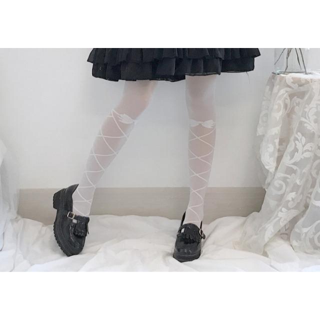 タイツ ストッキング レディース ファッション小物 靴下 ロリータ ロリィタ ホワイトソックス|londonbridge|04