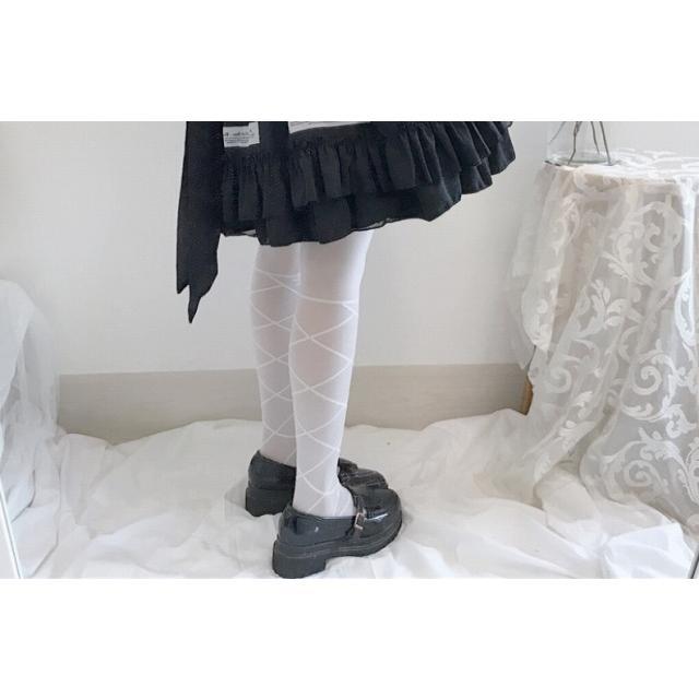 タイツ ストッキング レディース ファッション小物 靴下 ロリータ ロリィタ ホワイトソックス|londonbridge|05
