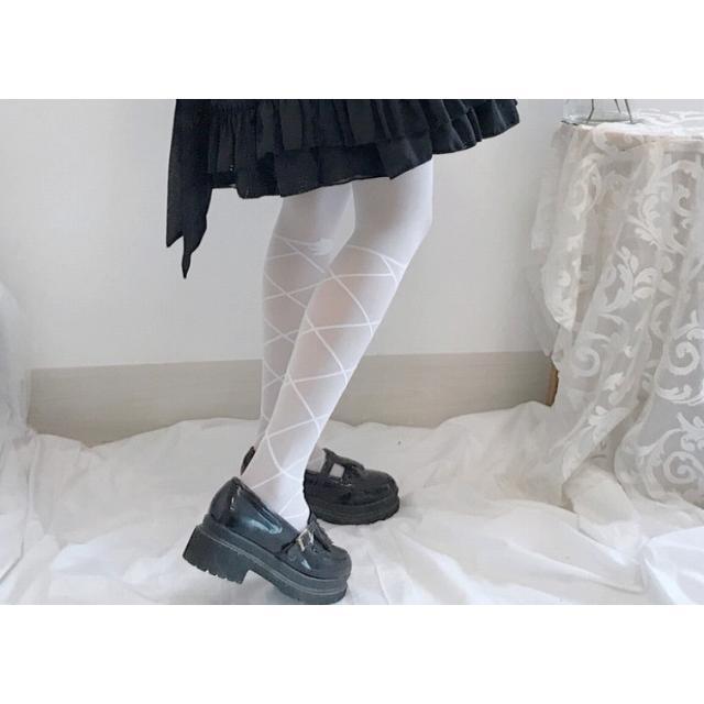 タイツ ストッキング レディース ファッション小物 靴下 ロリータ ロリィタ ホワイトソックス|londonbridge|06