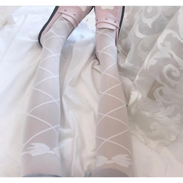 タイツ ストッキング レディース ファッション小物 靴下 ロリータ ロリィタ ホワイトソックス|londonbridge|09