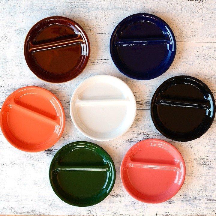 ランチプレート 丸 21cm 全9color  取り皿 おしゃれ お皿 皿 食器 プレート 陶器 美濃焼 可愛い 北欧 日本製 おうちごはん long-greenlabel 03