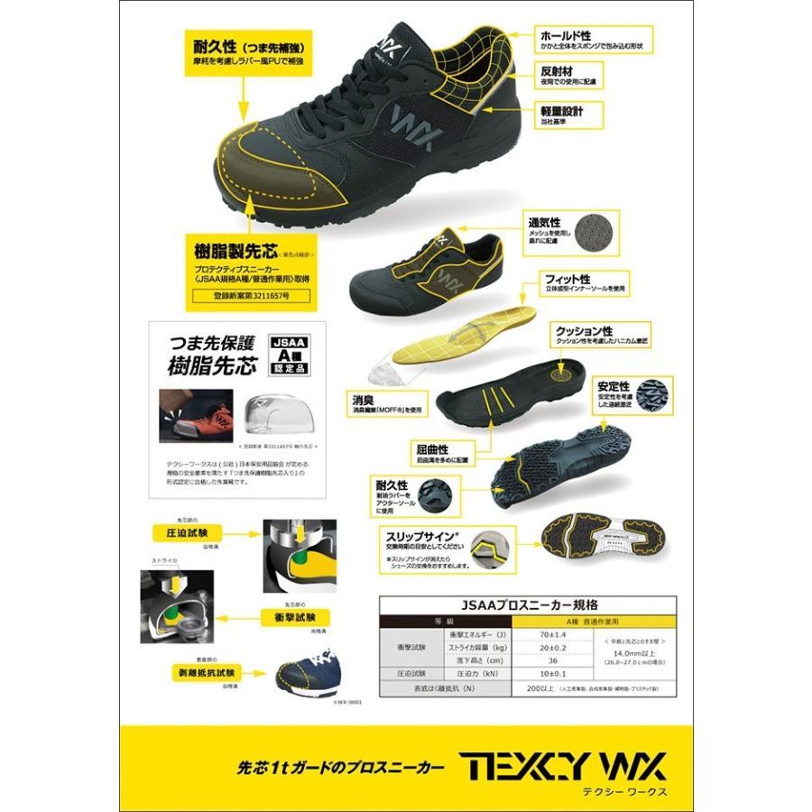 アシックス商事 安全靴 マジックテープ メンズ プロスニーカー テクシーワークス 歩きやすい 痛くない 疲れない 履きやすい|longpshoe|03