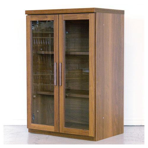 キッチンキャビネット ガラス戸 3段 木製 北欧風 完全送料無料 食器棚 両開き 収納 本日限定 EIFFEL-60GCA おしゃれ キッチンボード