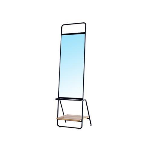 スタンドミラー 姿見 鏡 おしゃれ おしゃれ 棚 全身 カフェ レトロ ヴィンテージ かわいい アイアン インダストリアル インテリア 棚付き鏡 RUCORA RUCORA-M
