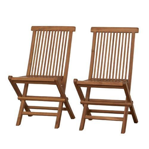 折りたたみチェア 2脚セット ダイニングチェア ランキング総合1位 折りたたみ椅子 [並行輸入品] ガーデンチェア ラウンジチェア イス チーク材 チークチェア 折りたたみイス 55101 折り畳み