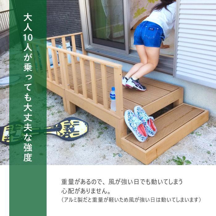 ウッドデッキ 8点セット 1.25坪 樹脂 縁側 庭 縁台 人工木 デッキセット diy おしゃれ ガーデンデッキ ガーデンベンチ ステージ ウッドパネル 頑丈 HP-S5CSB|lookit|05