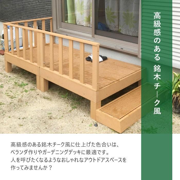 ウッドデッキ 8点セット 1.25坪 樹脂 縁側 庭 縁台 人工木 デッキセット diy おしゃれ ガーデンデッキ ガーデンベンチ ステージ ウッドパネル 頑丈 HP-S5CSB|lookit|06
