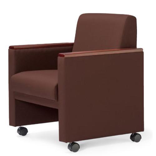 【法人限定】 アームチェア キャスター付き 布張り ビニールレザー張り 会議椅子 ミーティングチェア RE-4681