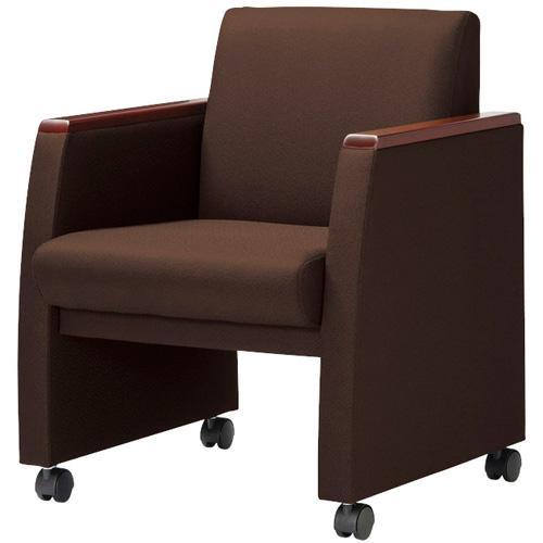 【法人限定】 アームチェア ロッキング 高級 ミーティングチェア 会議椅子 キャスター付き 布張り ビニールレザー張り ブラック ブラウン RE-5881