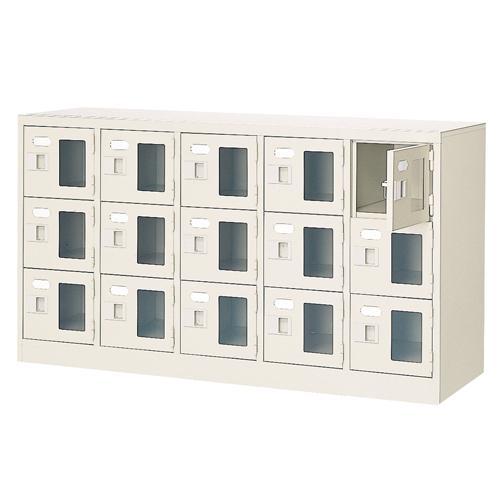 15人用シューズロッカー 5列3段 鍵なし BST5-3WMX(N) BST5-3WMX(N)