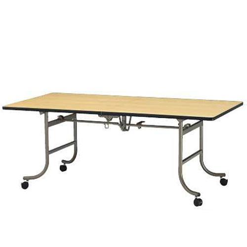 【法人限定】 レセプションテーブル 折りたたみ スクエア 角型 長方形 会議テーブル リビングテーブル 机 作業台 大型テーブル ダイニングテーブル FRN-1860
