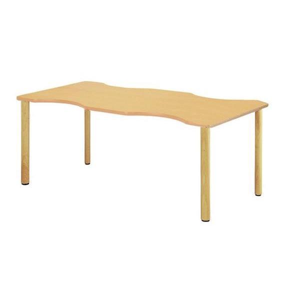 ミーティングテーブル FA-1690Q 波型 人気 事務所