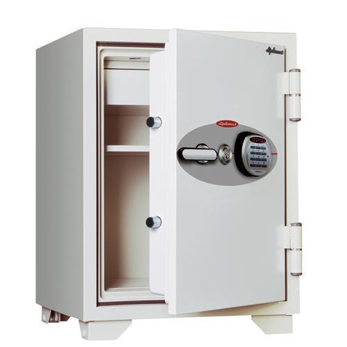 耐火金庫 テンキー 18ヶ月保証付き 64L A4ファイル 金庫 耐火 シリンダー錠 シリンダー錠 おしゃれ 警報装置付き 鍵付き 送料無料 070EKR3