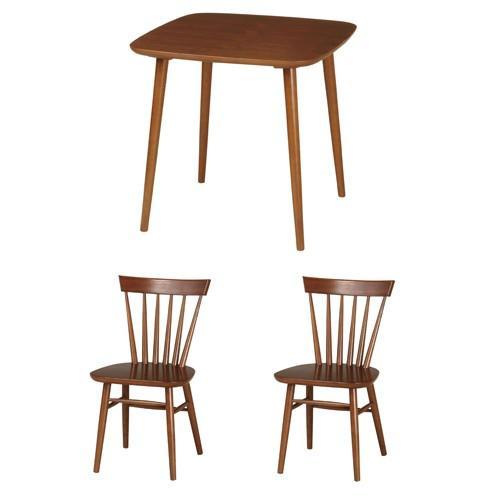 ダイニング3点セット 二人用ダイニングセット ダイニング家具 食卓セット テーブル チェア セット 木製家具 おしゃれ シンプル DT-E750S