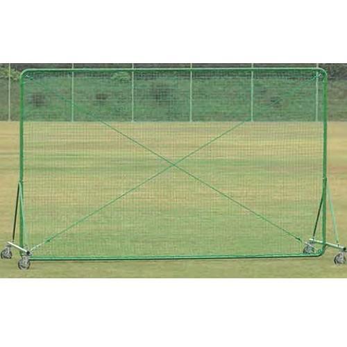 移動式防護ネット 幅4m 高さ2.5m 国産 キャスター ストッパー付き フェンス 野球練習用 練習場 野球 テニス 備品 安全対策 スポーツ施設 教育施設 S-9474